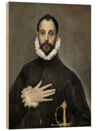 Madera  The Caballero with his Hand on His Heart - Dominikos Theotokopoulos (El Greco)