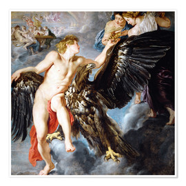 Póster  Abduction of Ganymede - Peter Paul Rubens