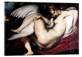 Cuadro de metacrilato  Leda and the Swan - Peter Paul Rubens