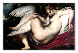 Póster  Leda and the Swan - Peter Paul Rubens