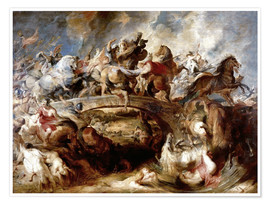 Póster  Battle of the Amazons - Peter Paul Rubens
