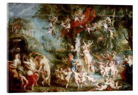 Cuadro de metacrilato  The Feast of Venus - Peter Paul Rubens