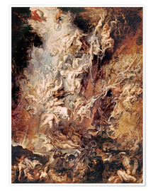 Póster  The Descent into Hell of the Damned - Peter Paul Rubens