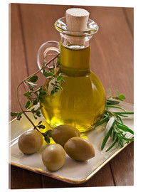 Cuadro de metacrilato  Olive oil and olives - Edith Albuschat