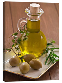 Lienzo  Olive oil and olives - Edith Albuschat