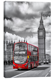 Lienzo  Big Ben and Red Bus - Melanie Viola