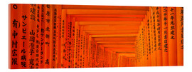 Cuadro de metacrilato  Red gates of Fushimi Inari Taisha Shrine in Kyoto Japan - Jan Christopher Becke