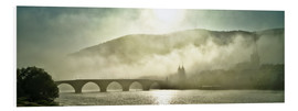 Cuadro de PVC  Heidelberg in fog with old bridge - Jan Christopher Becke