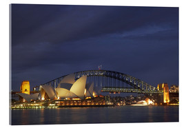 Cuadro de metacrilato  Sydney Opera House and Harbour Bridge - David Wall