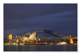 Póster Sydney Opera House and Harbour Bridge
