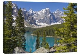 Lienzo  Moraine Lake, Canadian Rockies, Alberta, Canada - Paul Thompson