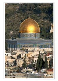 Póster  Jerusalem and the Dome of the Rock - David Noyes