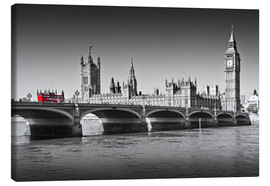 Lienzo  Westminster Bridge and Bus - Melanie Viola