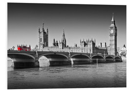 Cuadro de PVC  Westminster Bridge and Bus - Melanie Viola