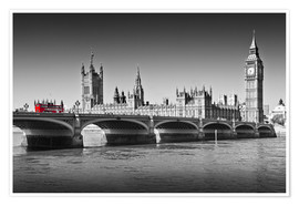 Póster  Westminster Bridge and Bus - Melanie Viola