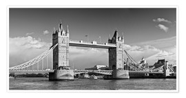 Póster Tower Bridge black and white