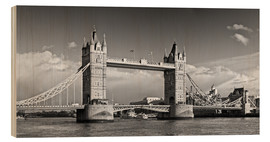 Cuadro de madera  Tower Bridge black and white - Melanie Viola