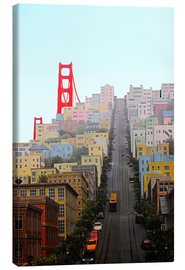 Lienzo  San Francisco and Golden Gate Bridgee - John Morris
