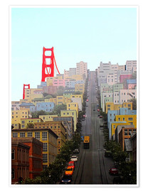 Póster  San Francisco and Golden Gate Bridgee - John Morris