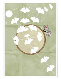 Póster GINGKO TREE BY 5 CLOCK EARLY