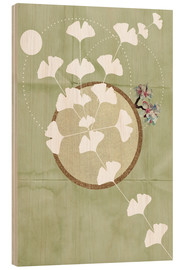 Cuadro de madera  GINGKO TREE BY 5 CLOCK EARLY - Sabrina Alles Deins