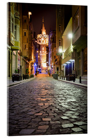 Cuadro de metacrilato  The famous Galata-Tower at night (Istanbul/Turkey) - gn fotografie