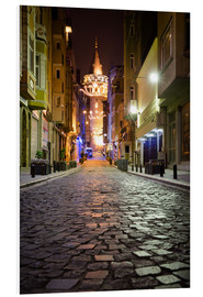 Cuadro de PVC  The famous Galata-Tower at night (Istanbul/Turkey) - gn fotografie