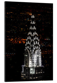 Cuadro de metacrilato  Chrysler Building New York City by Night - Michael Haußmann