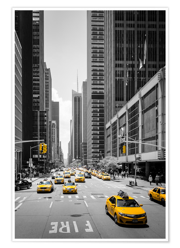 Póster New York Yellow Cabs