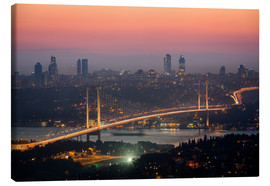 Lienzo  Bosporus-Bridge at Night (Istanbul / Turkey) - gn fotografie