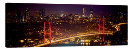 Lienzo  Bosporus-Bridge at night - red (Istanbul / Turkey) - gn fotografie