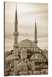Cuadro de aluminio  the blue mosque in sepia (Istanbul - Turkey) - gn fotografie
