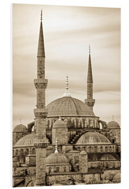 Cuadro de PVC  the blue mosque in sepia (Istanbul - Turkey) - gn fotografie