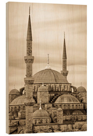 Cuadro de madera  the blue mosque in sepia (Istanbul - Turkey) - gn fotografie