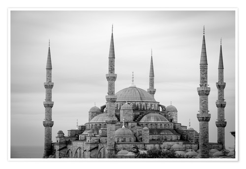 Póster the blue mosque in Istanbul / Turkey