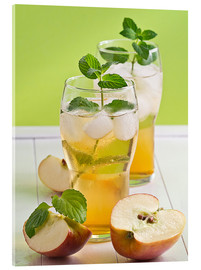 Cuadro de metacrilato  Apple juice with fresh mint - Edith Albuschat