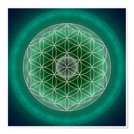 Póster  Flower of Life 11 - Christine Bässler