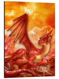 Cuadro de aluminio  Red Power Dragon - Dolphins DreamDesign
