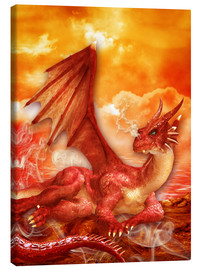 Lienzo  Red Power Dragon - Dolphins DreamDesign
