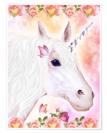 Póster  Loving Unicorn - Dolphins DreamDesign