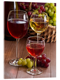 Cuadro de metacrilato  Wine in glasses - Edith Albuschat