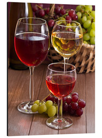 Aluminio-Dibond  Wine in glasses - Edith Albuschat