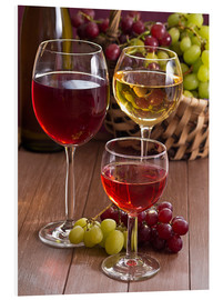 Cuadro de PVC  Wine in glasses - Edith Albuschat