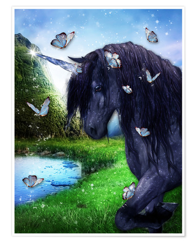 Póster Black Unicorn