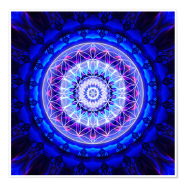Póster  Mandala safety with flower of life - Christine Bässler