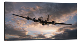 Cuadro de aluminio  The Flying Fortress - airpowerart