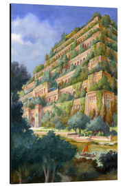 Cuadro de aluminio  Hanging Gardens of Babylon - English School