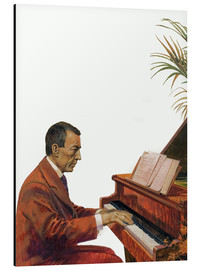 Cuadro de aluminio  Rachmaninoff playing the piano - Andrew Howat