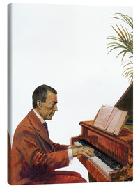 Lienzo  Rachmaninoff playing the piano - Andrew Howat