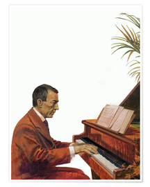 Póster  Rachmaninoff playing the piano - Andrew Howat